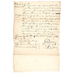1784 Autograph Document Signed by JAMES DUANE as Mayor of New York City