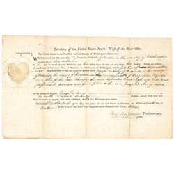 1799 Northwest Territory of the United States-West of the River Ohio... Document