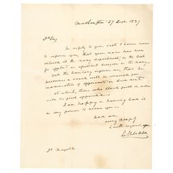 Commodore Isaac Hull I. - Hull USN Signed Letter Navy Commander USS Constitution