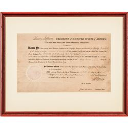 1806 President THOMAS JEFFERSON and JAMES MADISON Signed Territorial Appointment