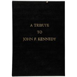 c. 1964 Inscribed Commemorative Book entitled, A Tribute to John F. Kennedy