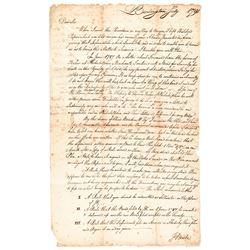 1791 JAMES KINSEY Manuscript Letter Signed as the NJ Supreme Court Chief Justice