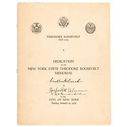 1936 FRANKLIN D. ROOSEVELT Signed Dedication Of The NY State Roosevelt Memorial!