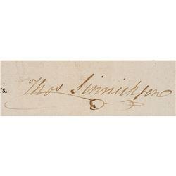 THOMAS SINNICKSON, 1796, Document Signed