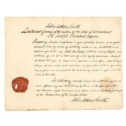 Governor (JOSEPH TRUMBULL), Manuscript Document 1811
