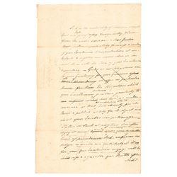 (GEORGE WASHINGTON) 1774 Partial Draft Speech Address to New York Governor Tryon