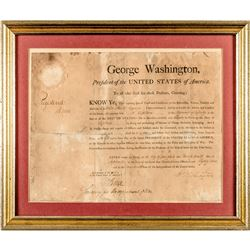 1789 GEORGE WASHINGTON Signed His First Year as President Military Appointment !