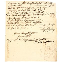 1756 Manuscript Document Signed, Mass. French and Indian War - Fort Crown Point