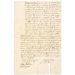 1761-Dated Colonial America, Manuscript Document