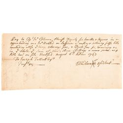 1763-Dated Colonial Document Regarding the Counterfeiting of Paper Money