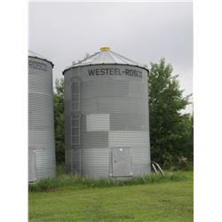 WESTEEL APPROX 2500 BU 7 RING BIN ON WOOD FLOOR