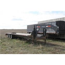 SWS 40' GOOSENECK TRIPLE AXLE FLAT DECK TRAILER