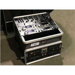 DENON DJ MIXING EQUIPMENT IN GATOR CASE, INCLUDES DENON DN-X500 DJ MIXER , DENON DN-D4000