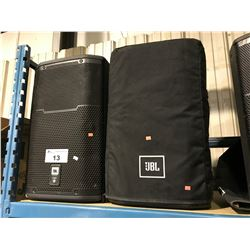 PAIR OF JBL PROFESSIONAL  PRX612M POWERED 2 WAY SPEAKER SYSTEM WITH SPEAKER COVER