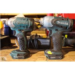 MAKITA 1/2  CORDLESS IMPACT WRENCH & 1/4  IMPACT