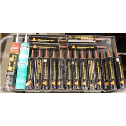 APPROX. 15 ASSORTED CONSTRUCTION SEALANTS &