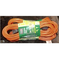 4 NEW 5 METER OUTDOOR EXTENSION CORDS