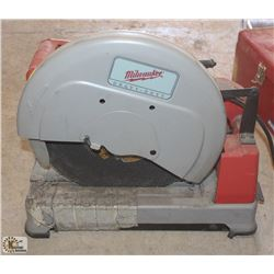 "MILWAUKEE HEAVY DUTY 14"" DRY CUTOFF SAW"