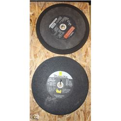 "LOT OF SEVEN 14"" ABRASIVE CUTTING WHEEL & ONE"