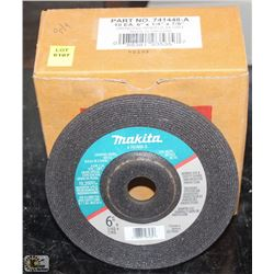"TEN NEW MAKITA 6"" GRINDING WHEEL 24 GRIT"