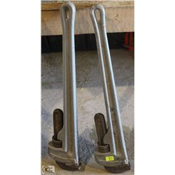 """SET OF TWO 24"""" RIDGID PIPE WRENCHES"""