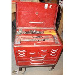 MASTERCRAFT METAL TOOL BOX ON DOLLY