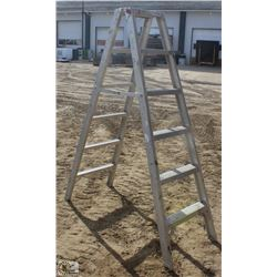 6 FOOT FALCON ALUMINUM STEP LADDER