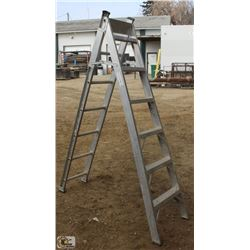 6 FOOT GLAM ALUMINUM STEP/EXTENSION LADDER