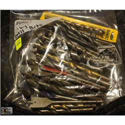 BAG OF ASSORTED LARGE DRILL BITS