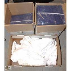 3 OPEN BOXES OF DISPOSABLE COVERALLS