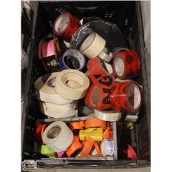 CRATE OF ASSORTED TAPE