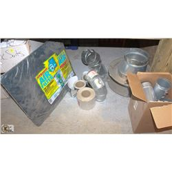 9 ASSORTED VENTILATION COMPONENTS W/ TAPE & AIR