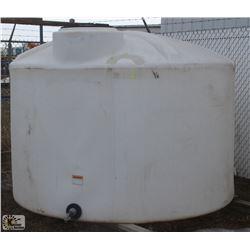 1250 GALLON WATER TANK