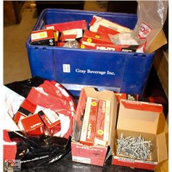 BOX OF ASSORTED HILTI & RAMSET LOAD STRIPS