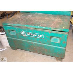 GREENLEE METAL FLIP TOP STORAGE BIN