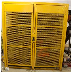 LARGE HEAVY DUTY LOCKABLE METAL STORAGE CAGE