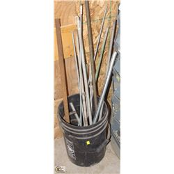 PAIL OF THREADED ROD & MORE