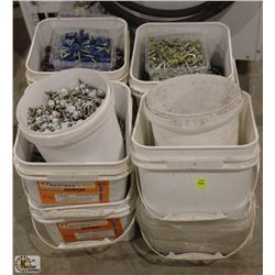 LOT OF ASSORTED MASTER GRIPPERS FASTENERS