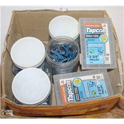 BOX  OF ASSORTED CONCRETE SCREWS