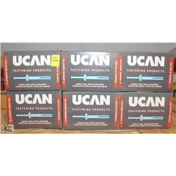 "6 BOXES OF UCAN 1/4"" X 2"" NAIL DRIVE ANCHORS"