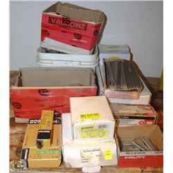 LOT OF ASSORTED STAPLES & COLLATED NAILS