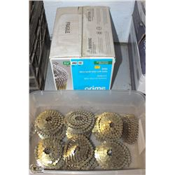 BOX OF PRIME WIRE WELD MINI COIL NAILS