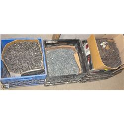 3 CRATES OF ASSORTED NAILS