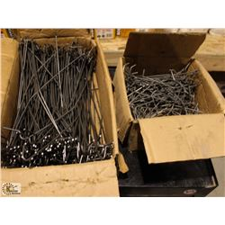 2 BOXES OF CLEARCO WIRE HOOKS