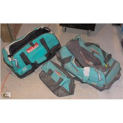 3 MAKITA CANVAS TOOL BAGS