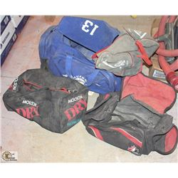 4 ASSORTED DUFFLE BAGS
