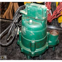 ZOELLER CO. SUBMERSIBLE SUMP PUMP