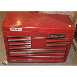 MASTERCRAFT 9 DRAWER FLIP TOP TOOL BOX