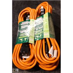 LOT OF 4 GENERAL DUTY EXTENSION CORDS