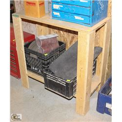 WOODEN STORAGE SHELF/ WORKTABLE